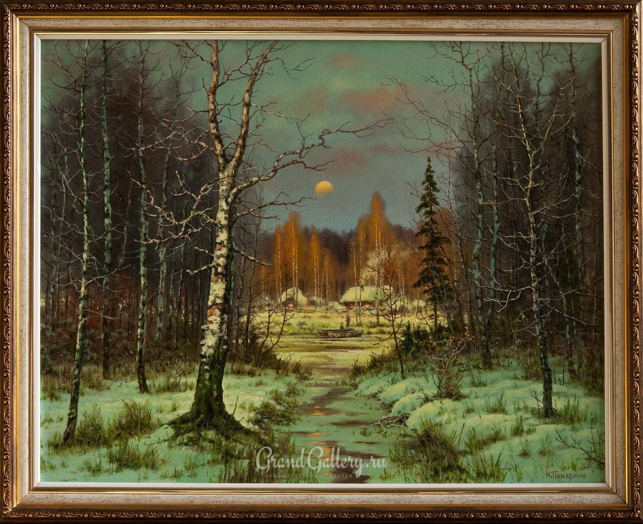 Зимний вечер. Луна